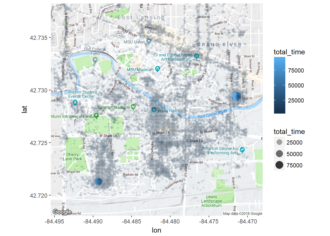 Clustering Google Location History with DBSCAN - Will Renius